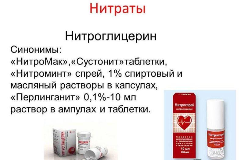 Нитроглицерин один из самых распространенных препаратов назначаемых при приступе