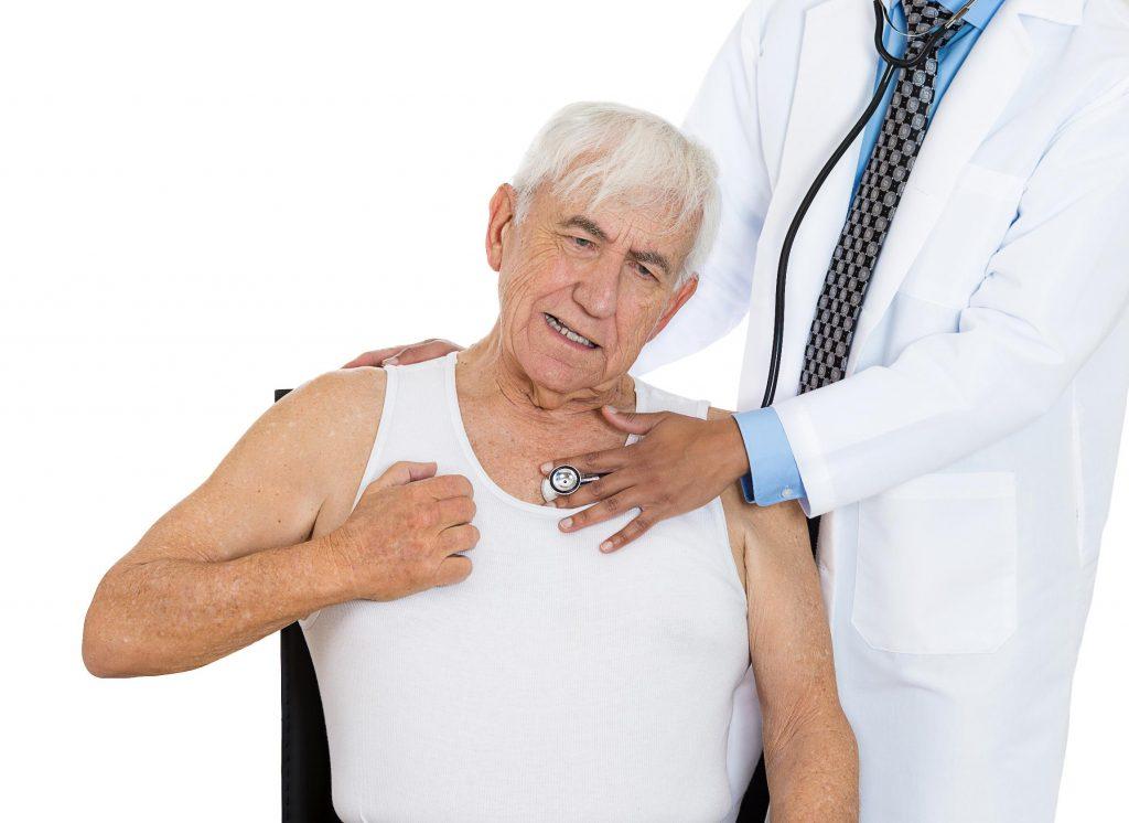 У пациента в анамнезе частенько есть повреждение миокарда либо сердечная недостаточность