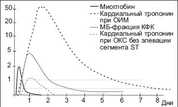 Временные характеристики появления биохимических маркеров
