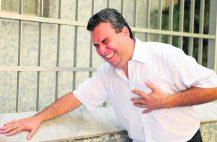 Появление острейшей боли в области сердца с чувством сдавления в грудной клетке будет свидетельствовать о поражении миокардас